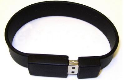 High Speed 2gb USB Flash Drive Silicone Bracelet