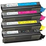 Okidata Compatible Toner Cartridge For Oki C5100 C5200 C5300 C5400 Series - Full Color Set