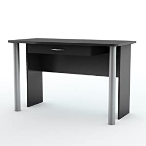 South Shore Furniture City Life Collection Office Desk, Pure Black