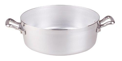 Pentole Agnelli FAMA634 Casseruola Bassa con 2 Maniglie, Alluminio, Argento