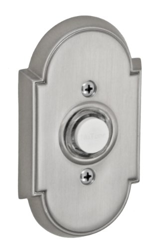 Fusion Hardware BEL-E8-BRN Decorative Collection Tarvos Doorbell, Brushed Nickel, 1-Pack