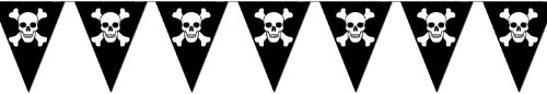 Beistle 50537 Jolly Roger Pennant Banner, 10-Inch By 12-Feet front-1057653