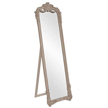 Howard Elliott 56100 Monticello Antique Mirror, Old World Taupe