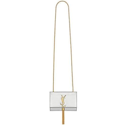 (サンローランパリ) Saint Laurent Classic Small Monogram Saint Laurent Tassel Satchel in Gold Metallic Leather (並行輸入品) LASTERR (SILVER)