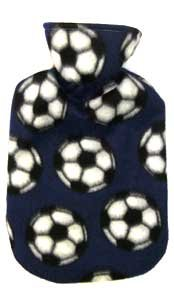 Fashy Soccer Fleece Covered Hot Water Bottle - Made in Germany