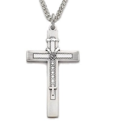 Sterling Silver Cross Necklaces  a Rosary Inner