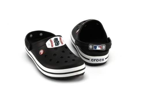 MLB Seattle Mariners Banded Slip-On Clog Style Shoe By Crocs, Black, Men's 4/Women's 6 at Amazon.com