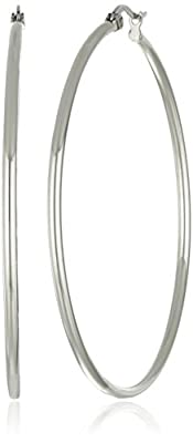 Stainless Steel Rounded Hoops Earrings (50mm Diameter)
