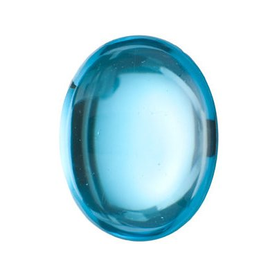 2.60 Cts of 9x7 mm AA Oval Cabachon Swiss Blue