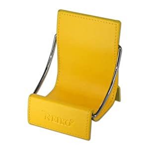Fashionable Universal Cell Phone / Camera / PDA / MP3 MP4 / Electronics / Card Holder / Holster / Cradle / Mount / Chair Desk Stand Display - YELLOW by Reiko Wireless
