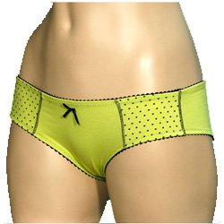Mopas Multi Pack Of 2 Plain And Dotted Bikini Boyshort Panty