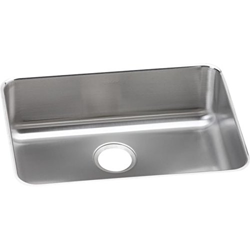 Elkay ELUH2317 Stainless Steel Center Drain Gourmet 18-3/4-Inch x 25-Inch Single Basin Undermount Stainless Steel Kitchen Sink