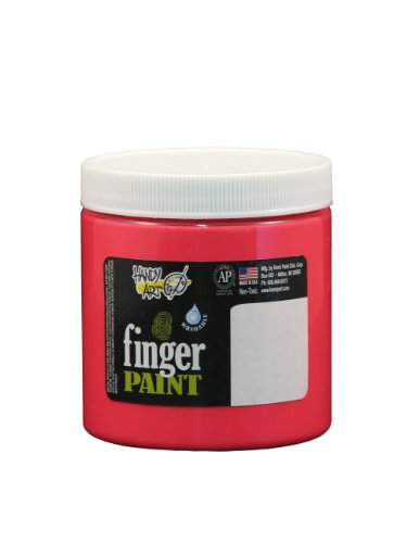 Handy Art by Rock Paint 246-154 Washable Finger Paint, 1, Fluorescent Red, 8-Ounce