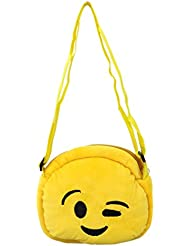 EMOTICON Yellow Colour Sling Bag By JDK NOVELTY (BGSL3951F)