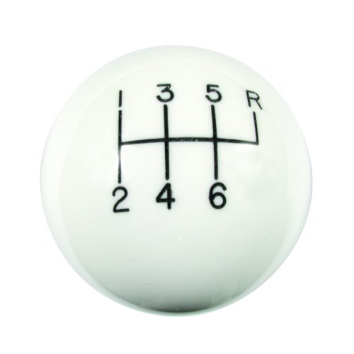 Hurst 1630016 White 6-Speed Classic Shifter Knob (Camaro Knob compare prices)