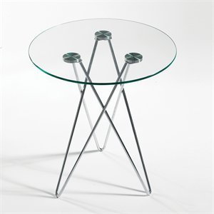 Zelda Round Glass Side Table