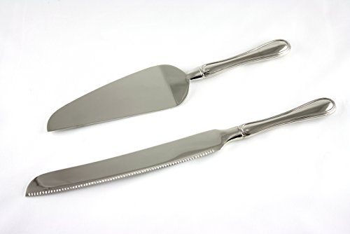 Skyway Wedding Cake Knife and Server Set Silver - Engravable (Wedding Pie Server compare prices)