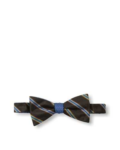 Ben Sherman Men's Reversible Pre-Tied Neat Stripe Bow Tie, Teal