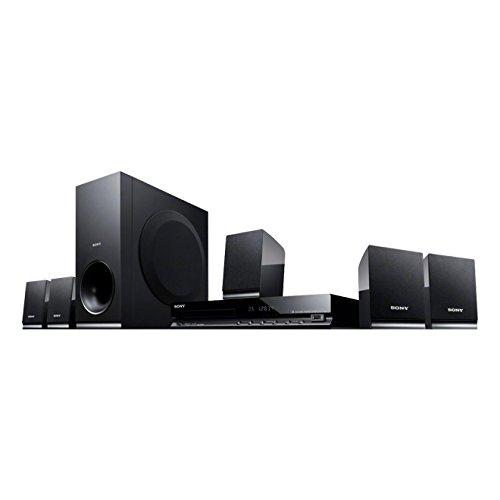 Sony DAV-TZ140 Sistema Home Cinema 5.1 Canali, Potenza 300W, Lettore DVD con ingresso USB, Dolby Pro Logic, Nero