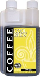 Cool Brew® Fresh Coffee Concentrate - Vanilla 1 Liter- Make Iced Coffee or Hot Coffee - Enough for over 32 drinks