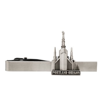 LDS Portland Oregon Temple Silver Steel Tie Bar - Tie Clip - Priesthood Gift, LDS Missionary, Tie Clip