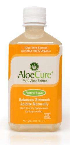 AloeCure Pure Aloe Vera Juice for Bouts of Acid Reflux, Heartburn