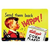 Kellogg's Large Plastic Placemat Table Mat Vintage Retro Style 43cm x 30cm Yellow