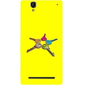 Casotec Colorful Keys Design Hard Back Case Cover for Sony Xperia T2 Ultra
