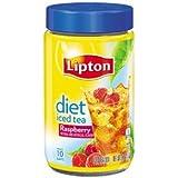 Lipton Diet Instant Tea Mix, Raspberry, 2.6-Ounce Jars (Pack of 6)