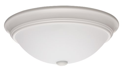 Lithonia Lighting 11983 Wh M2 15-Inch Fluorescent Decor Round Flush-Mount Ceiling Fixture With Lamp, White