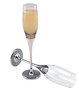 Glitter Galore Champagne Toasting Flutes - Gay Wedding Toasting Flutes