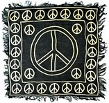 Picture Of Gold Peace Sign Altar Cloth
