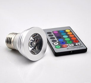 niceEshop(TM) Multi-Color E27 Color Changing Light Bulb / Magic Spotlight Bulb +Remote Control + Cable Tie - 1