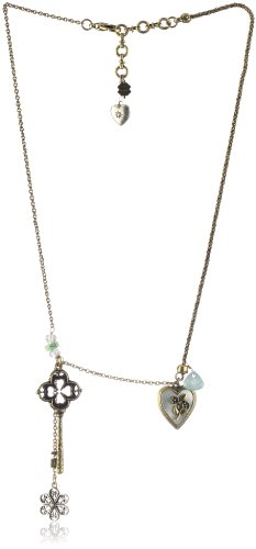 "Lucky Brand ""Lucky Basics"" Key to My Heart Charm Necklace"