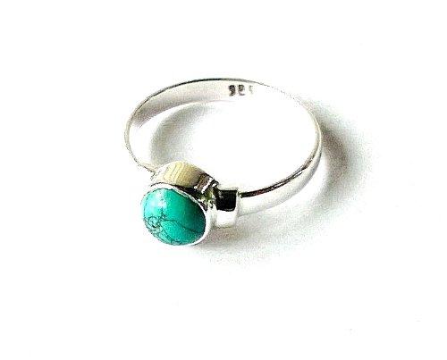 Shanya Sterling Silver Elegant Handcrafted Ring Turquoise Howlite