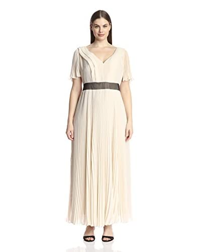 A.B.S. by Allen Schwartz Plus Women's Flutter Sleeve V-Neck Gown