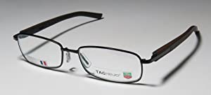 new season & authentic - designer/brand: TAG HEUER style/model: 8008 size: 55-17-140 color: CHOCOLATE/BROWN/BLACK type: FULL-RIM FLEXIBLE HINGES PRESCRIPTION READY OPTICAL EYEGLASSES/EYE GLASSES/EYEWEAR - made in France