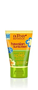 Alba Botanica Hawaiian, Green Tea Sunscreen SPF 45, 4 Ounce