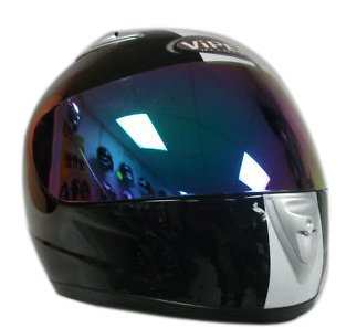 VIPER RS-33 MOTORCYCLE HELMET Black/White With Free Tinted Visor L (59-60 Cm)