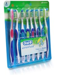 ORAL B® ADVANTAGE CRISSCROSS TOOTHBRUSH 8本パック 歯ブラシ