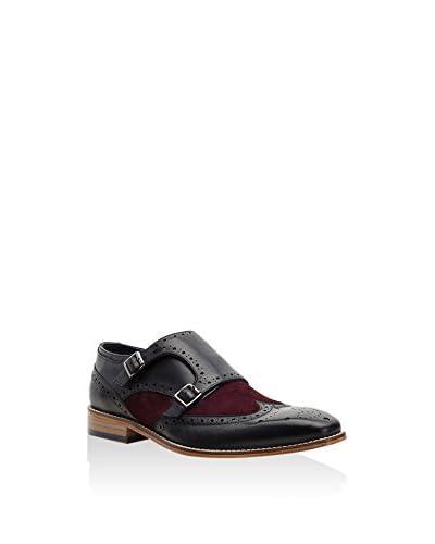 Goodwin Smith Zapatos Monkstrap Negro / Burdeos