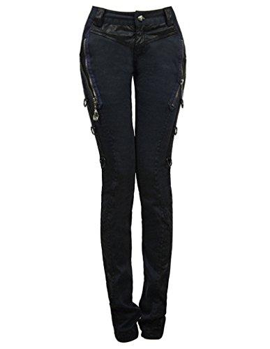 Punk Rave -  Jeans  - skinny - Basic - Donna nero W32