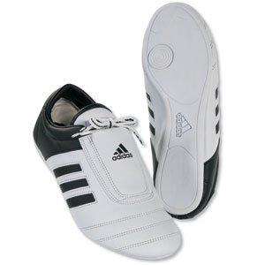 adidas� KICK Shoes Martial Arts Sneaker White with Black Stripes