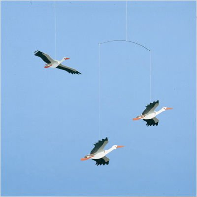 Danish Lucky Storks Mobile