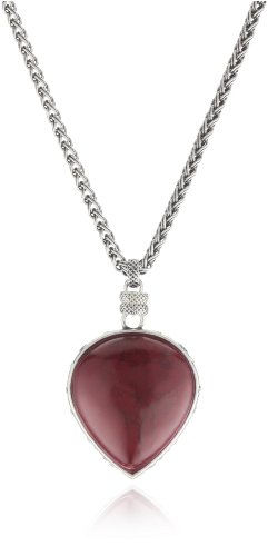 Lucky Brand Silver-Tone Red Fish Pendant Necklace, 16
