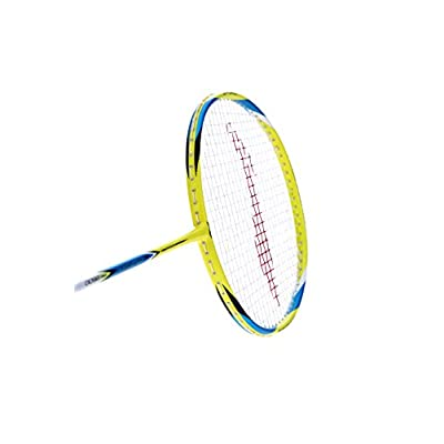 Li-Ning Pro-2600 G-Force Carbon Fiber Badminton Racquet, Size S2 (Yellow/Blue)