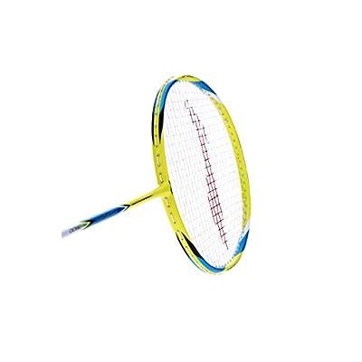 Li-Ning Pro-2600 G-Force Carbon Fiber Badminton Racquet, Size S2 (Yellow/Blue)