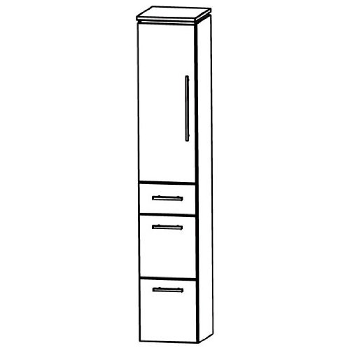 In Line (HNA093 A5ML/R) Bathroom Furniture Tall 30 cm