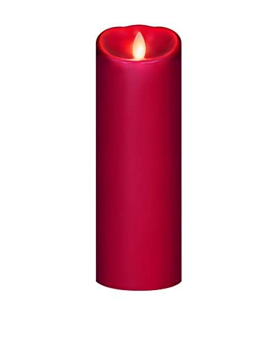 "Mirage 3"" x 9"" Unscented Programmable Flameless Candle, Red"