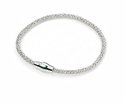 Elements Sterling Silver, Ladies, B4222, Diamond Bead Chain Bracelet of Length 19cm